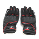Black/Red Super Moto Gloves