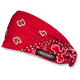 Red/White/Black Paisley Mini Doo-Z Headwrap - DZ02-225
