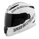 Matte White/Silver Cruise Missile SS1600 Helmet