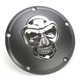 Black Derby Cover with Chrome Skull - 1107-0266