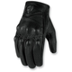Womens Black Pursuit Touch Gloves