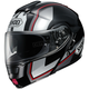 Black/Silver/Red Neotec Imminent TC-5 Modular Helmet