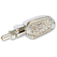 Chrome Aluminum Oblong Single Filament LED Marker Lights w/Clear Lens - 26-8304CM