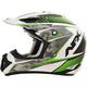 Pearl White/Green FX17 Factor Helmet