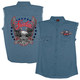 Freedom Eagle Sleeveless Denim Shirt