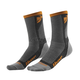 Gray/Orange Dual Sport Cool Socks
