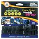 Black/Reflective Medium-Duty Stretch Straps - 2014-006
