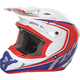 White/Red/Blue Kinetic Fullspeed Helmet