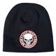 Black Stencil Skull Beanie - KHB1025
