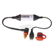 2100mA Weatherproof USB Charger w/90 Degree Low Profile (DIN) Plug 2.5mm Plug - O104