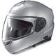 Platinum Silver N104 Evo Classic N-Com Modular Helmet