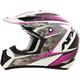 Pearl White/Fuchsia FX-17 Factor Helmet