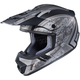 Flat Silver/Black MC-5F CS-MX 2 Squad Helmet
