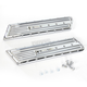 Chrome Saddlebag Latch Delete Plates - C1008-C