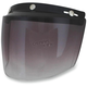 Gradient Smoke Three-Snap Flip Bubble Shield/Visor - 0131-0079