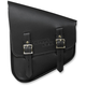 Black Leather Left-Side Nashty Saddlebag - NOBBLN