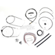 Black Vinyl Handlebar Cable and Brake Line Kit for Use w/15 in. - 17 in. Ape Hangers (w/o ABS) - LA-8006KT2A-16B