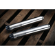 Chrome 2.5 in. Maverick Slip-On Mufflers - 611
