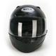 Matte Black Vortex Helmet - Convertible To Snow