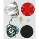 Flat Lens Turn Signal-Single Filament/Red Lens - 8431R