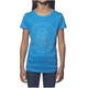 Girls Turquoise Button T-Shirt