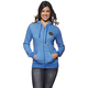 Womens Blue Winners Circle Zip-Up Hoody