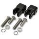 Black Early-Style Footpeg Mount Adapters - LA-720201B