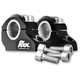 Black Anodized 1 1/4 in. Pro-Offset Elite Block Risers for 7/8 in.-1 in. Handlebars - 3R-B12POEK