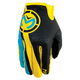 Cyan/Yellow MX2 Gloves