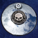 Tank 1.8 Inch  Fuel Door Coin Mount With Harley Skull 2-Sided Coin - JMPC-FD-HSKULL