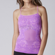 Womens Neon Lilac Hello! Floral Cami