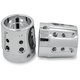 Chrome Gatlin Front Axle Nut Covers - AXL-GAT-CH