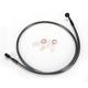 Black Pearl Designer Series 180 Degree Top Angle Custom Single-Disc Front Brake Line - 46444SW