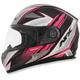 Black/Fuchsia FX-90 Rush Gloss Helmet