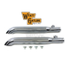 Chrome 2 1/2 in. Turnout Slip-On Mufflers - 30-0358