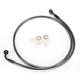 Black Pearl Designer Series 180 Degree Top Angle Custom Single-Disc Front Brake Line - 46446SW