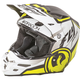 Matte White/Black/Hi-Vis Yellow F2 Carbon Dragon Helmet