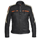 Women's Black/Orange Blade Leather Jacket