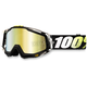 Black/White/Yellow Racecraft T2 Goggle w/Mirror Gold Lens - 50110-093-02