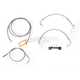 Stainless Braided Handlebar Cable and Brake Line Kit for Use w/15 in. - 17 in. Ape Hangers (w/o ABS) - LA-8012KT-16