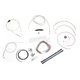 Stainless Braided Handlebar Cable and Brake Line Kit for Use w/15 in. - 17 in. Ape Hangers (w/o ABS) - LA-8006KT2B-16