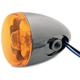 Black Nickel Turn Signal w/Amber Lens - 8887A-BN