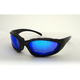 Black Performance C-22 Sunglasses w/Blue Lens - C-22BK/BR