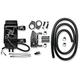 Gloss Black 10-Row Vertical Frame-Mount Fan-Assisted Oil Cooler Kit - 761-FP2600