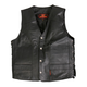 Side Lace Cowhide Leather Vest