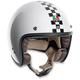 White Checkered Flag RP60 Helmet