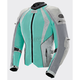 Women's Mint/Silver Cleo Elite Textile Mesh Jacket