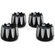 Black Excalibar Head Bolt Covers - HBC-304-ANO-EX