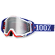 Red/White/Blue Varsity Racecraft Goggles w/Mirror Lens - 50110-032-02