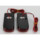 Black LED Fender Strut Lights - Red LED w/Red Lens - SPSL-3B